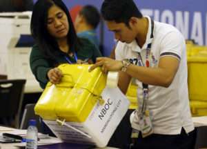 Padlocks were used in the 2007 Philippine Elections to protect the ballot boxes from fraud
