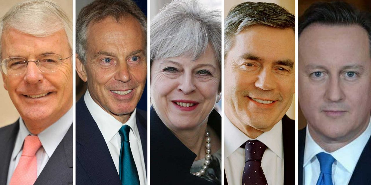 Past Prime Ministers of the United Kingdom