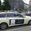 Uber ride-hailing service on the streets of UK