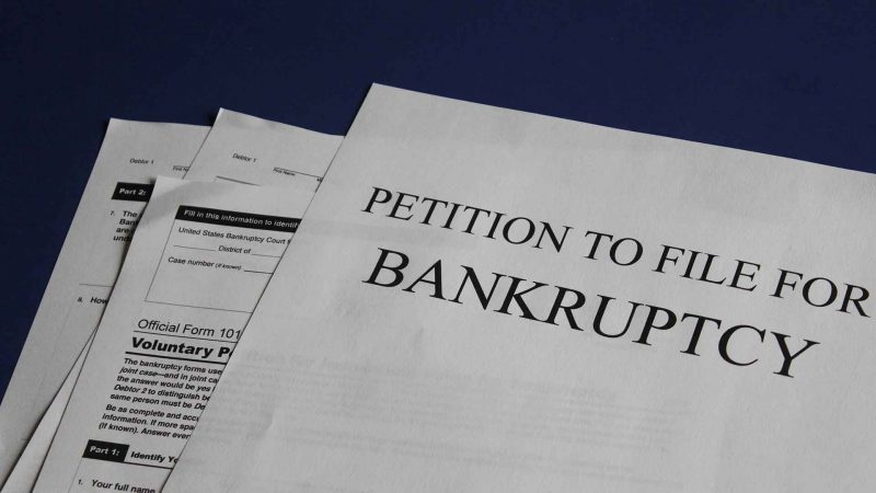 Petition to file for bankruptcy