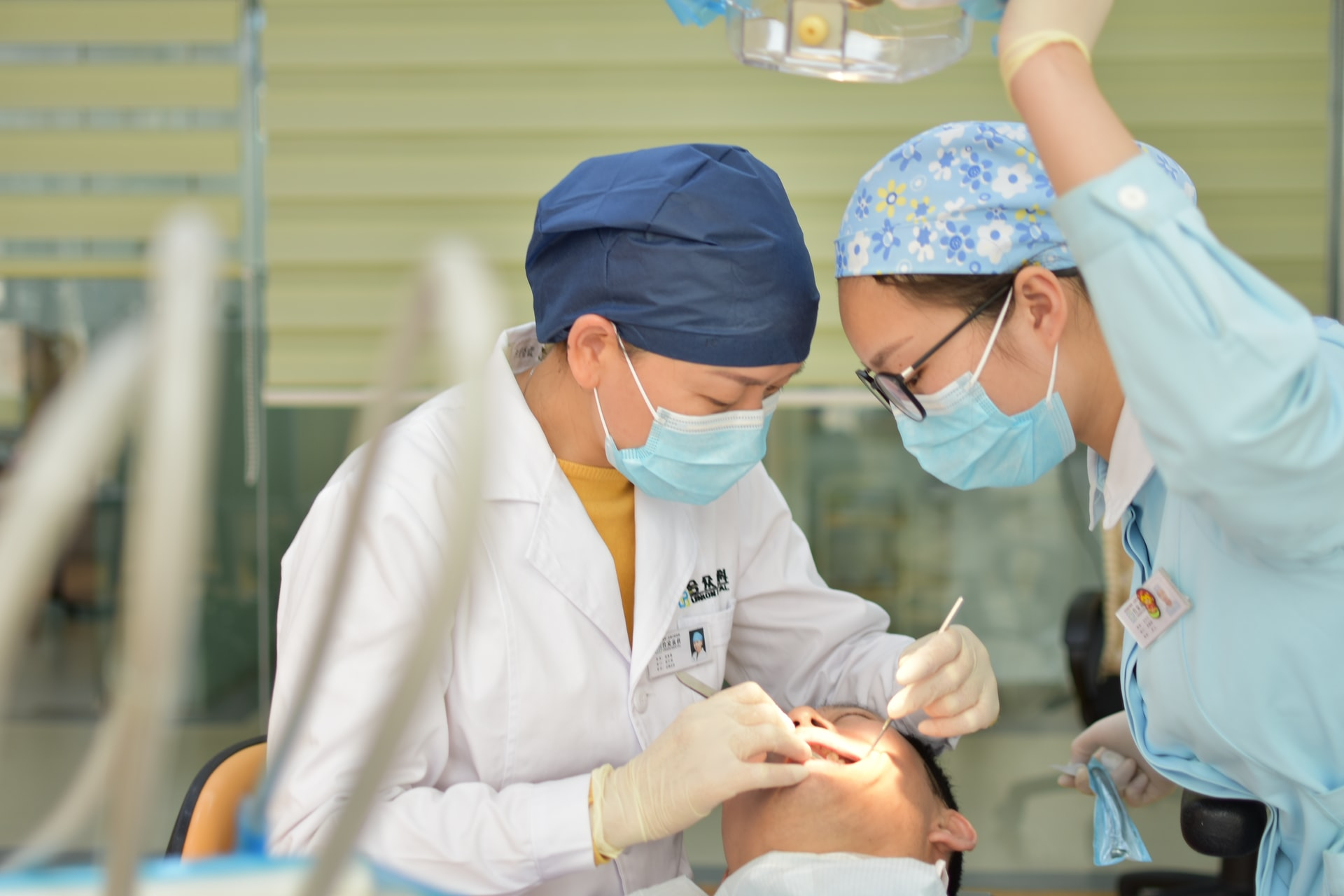 dentists performing a dental operation